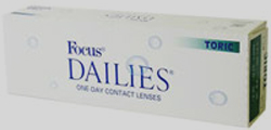 Focus Dailies Toric Contact Lenses Daily Disposable